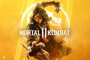video game art scorpion (character) mortal kombat 11 mortal kombat video game warriors video games