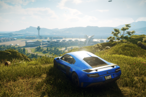 video games car just cause 4 screen shot vehicle blue cars