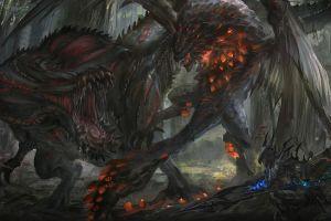 video games dragon monster hunter video game art monster hunter: world
