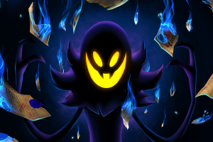 video games glowing eyes purple a hat in time