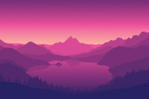 video games mountains firewatch lake