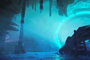 video games warframe cave screen shot