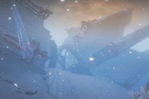 video games warframe screen shot snow