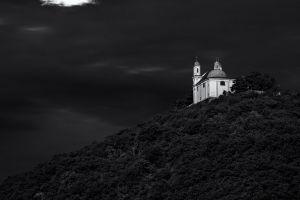 vienna austria church dark monochrome