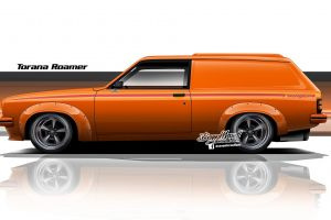 vintage car axesent creations orange cars holden render side view australian cars muscle car