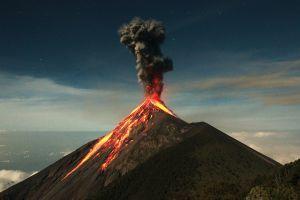 volcano landscape eruption nature guatemala
