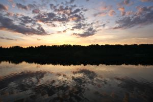 volga river russia sunset clear water