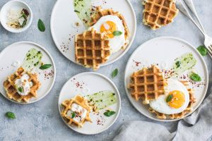 waffles food eggs