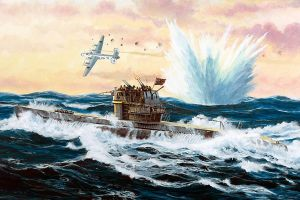 war sea artwork submarine
