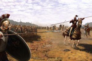 war warrior greek fantasy art