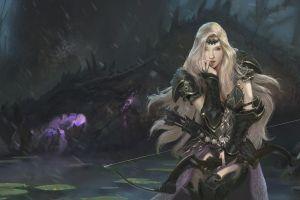 warrior digital art fantasy art blonde artwork arc alejandro olmedo women