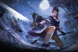 warrior wuxia people fantasy art fantasy girl