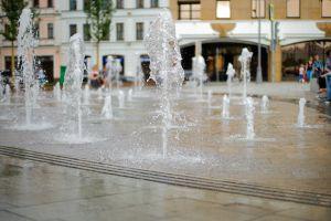 water drops fountain fountain water drops