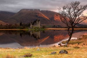 water nature reflection castle ruin
