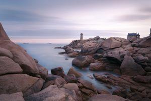 water sea rocks lighthouse stones