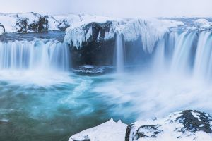 waterfall landscape snow nature multiple display