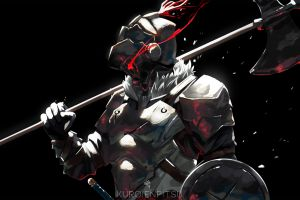 weapon armored fantasy art goblin slayer artwork