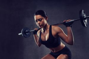weightlifting working out women fitness model