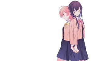 white background simple background koito yuu anime yagate kimi ni naru anime girls