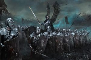 wings artwork fantasy art army sword digital art winged hussars warrior war
