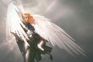 wings fantasy girl fantasy art