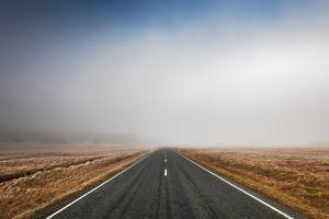 winter asphalt photography road