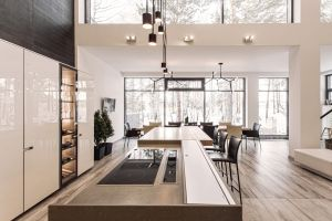 winter kitchen modern table interior interior design window