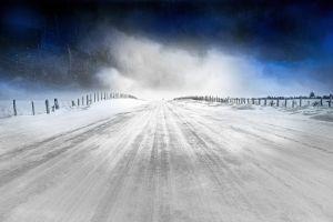 winter snow road ice