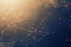 wireframe abstract geometry lines cyberspace digital art