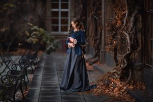 women anastasia barmina depth of field dress bench standing women outdoors portrait model books outdoors