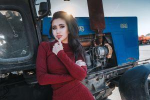 women black nails women outdoors anton harisov dress portrait