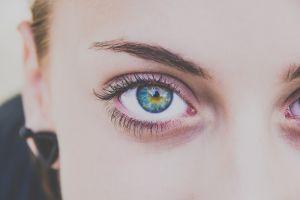 women blue eyes closeup eyes