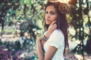 women brunette anastasia vervueren model