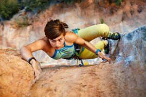 women climbing sport  rock