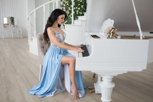 women dmitry shulgin piano musical instrument sitting