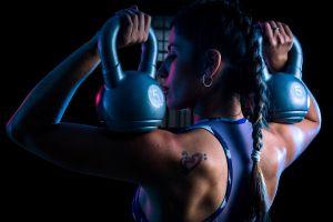 women fitness model working out sport  model