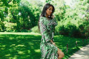 women grass portrait dress alexander belavin women outdoors tanned