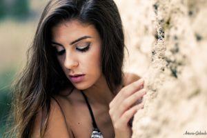 women greta bertone model antonio girlando face brunette
