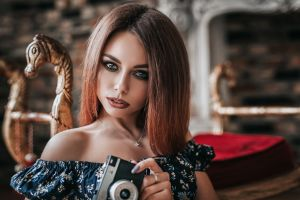 women indoors portrait anton harisov camera women model