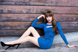 women legs looking at viewer high heels asian
