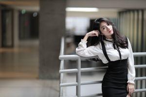 women long hair dark hair asian