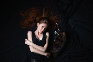 women long hair dark model