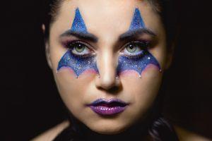 women makeup face 500px purple lipstick model