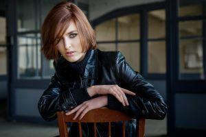 women model portrait chair