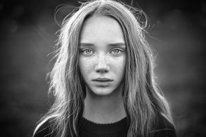 women monochrome model face portrait