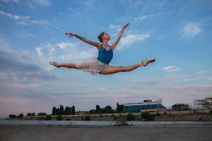 women outdoors ballerina brunette women dmitry shulgin dancer jumping