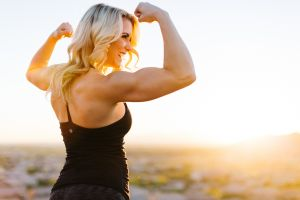 women outdoors blonde fitness model women
