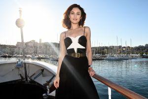 women outdoors brunette celebrity looking at viewer olga kurylenko