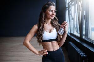 women smiling model fitness model