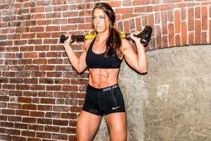 women spandex model fitness model